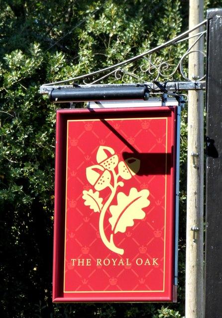 The Royal Oak Pub Sign