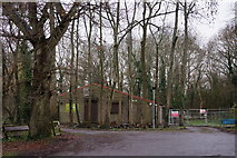 TQ3853 : Scout Hut Near Oxted by Peter Trimming