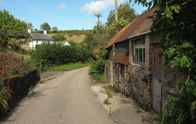 Lane near Woodgate Cottages