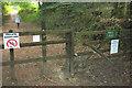SX8075 : Signs on footpath, Rora Wood by Derek Harper