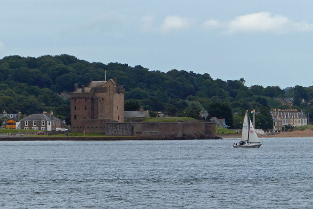 Broughty Castle and the Firth of Tay