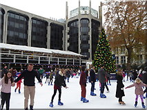 TQ2679 : Ice skating at the Natural History Museum by Rod Allday