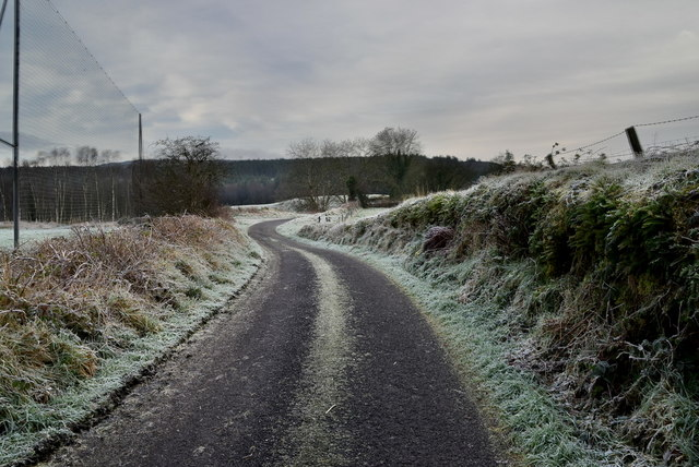 A frosty country road, Envagh