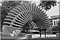 SJ4812 : Quantum Leap sculpture, Shrewsbury by John Winder