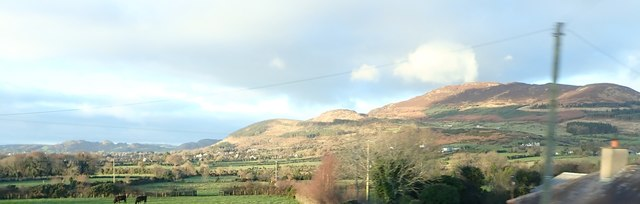 Slieve Gullion viewed from the B113 west of Dromintee