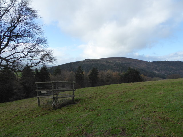 Hill scenery on Linley Beeches