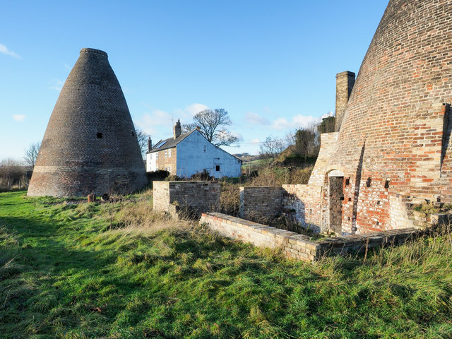 Bottle kilns at disused pottery