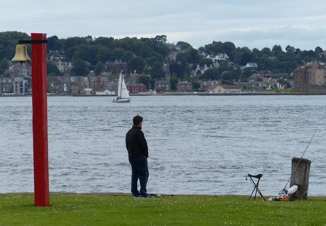 Fisherman at Tayport harbour