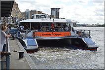 TQ3680 : Thames Clipper Ferry at Canary Wharf Pier by N Chadwick