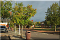 SU6669 : Car park and hotel, Reading Services by Derek Harper