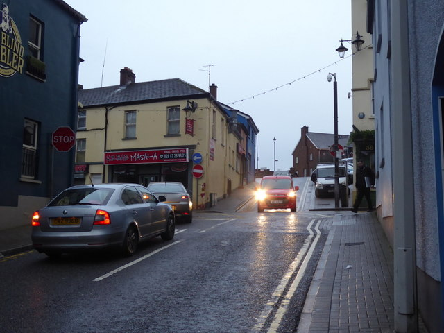 Traffic along Kevlin Road, Omagh