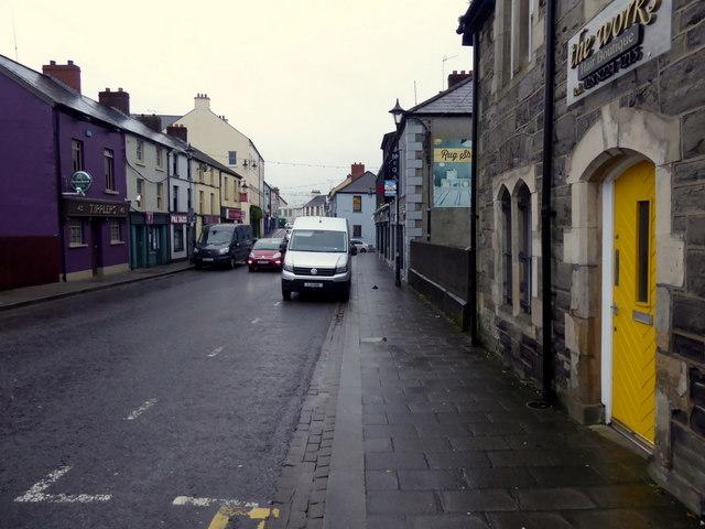 Yellow door along John Street, Omagh