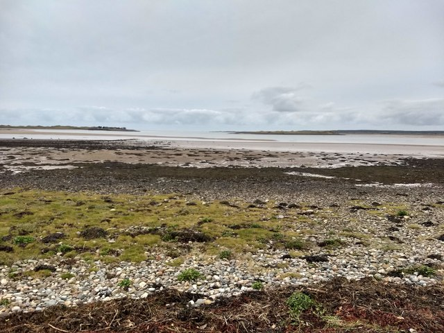Low tide at the entrance to Y Foryd