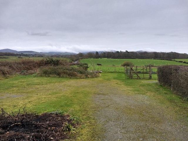 Farmland near Pen-y-Bythod