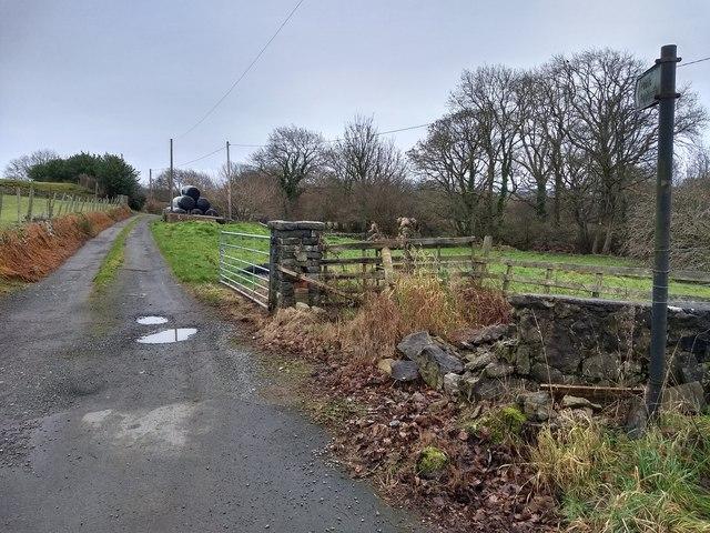 Farm lane off the A499