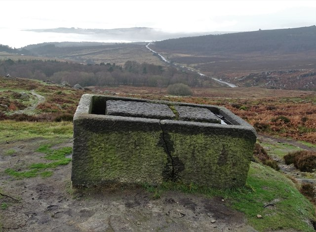 Abandoned stone trough above Burbage Valley