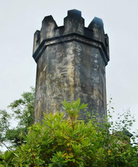 Chimney, barrack ruins