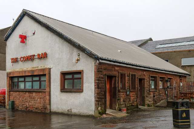 The Comet Bar situated on King Street, Port Glasgow, Inverclyde, Scotland