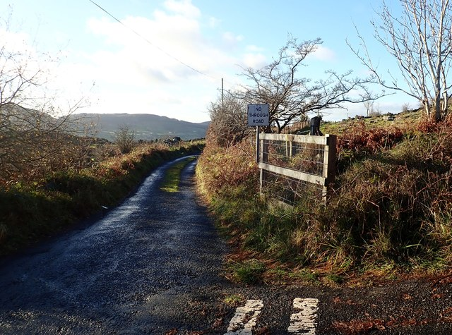 Upper no through road section of the unnamed road running North from the B113