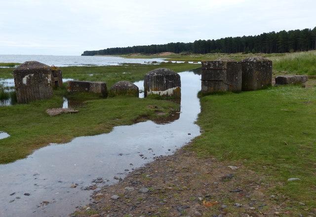 Anti-tank blocks at the Tentsmuir National Nature Reserve