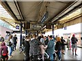 SJ8497 : Waiting for a train at Manchester Piccadilly by Gerald England
