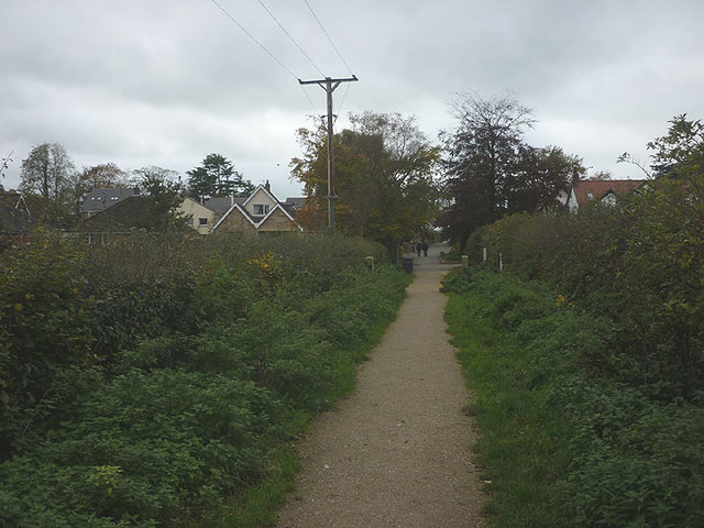Footpath entering Catterall