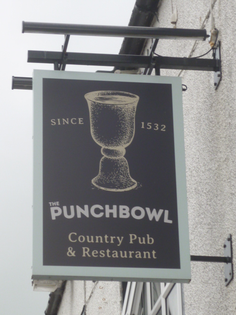 Sign for The Punchbowl, Churchtown