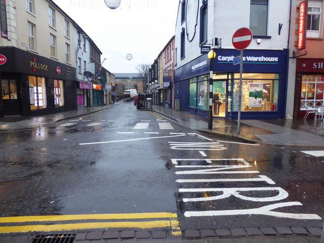 Wet along Bridge Street, Omagh