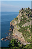 SS7049 : Castle Rock and Wringcliff Bay by Ian Capper