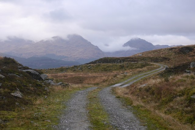 Top of the pass - above Cailness