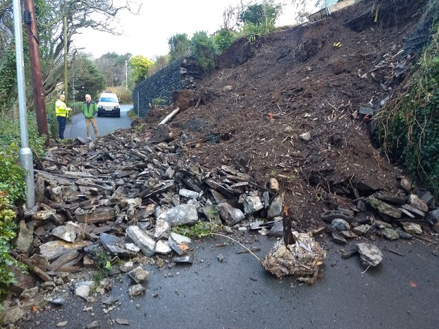 Landslip on the Garth Road