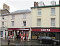 SO0428 : Bargain Booze and Costa, High Street, Brecon by Jaggery