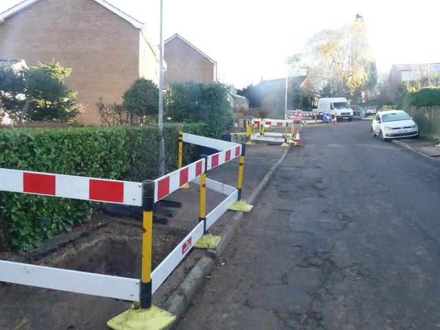 Gas pipes under repair