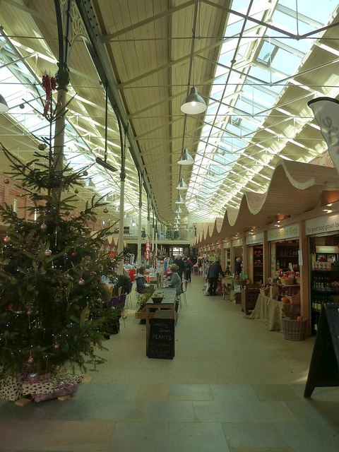 Newtown Market Hall at Christmas