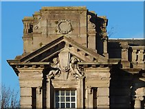 NS3975 : Dumbarton Public Library: detail by Lairich Rig