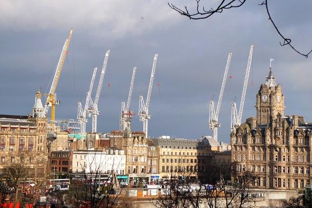 13367bb1eabb98 Cranes off duty, Edinburgh © Jim Barton cc-by-sa/2.0 :: Geograph ...