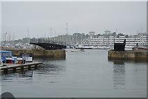 SX4653 : Royal William Yard - dock basin entrance by N Chadwick