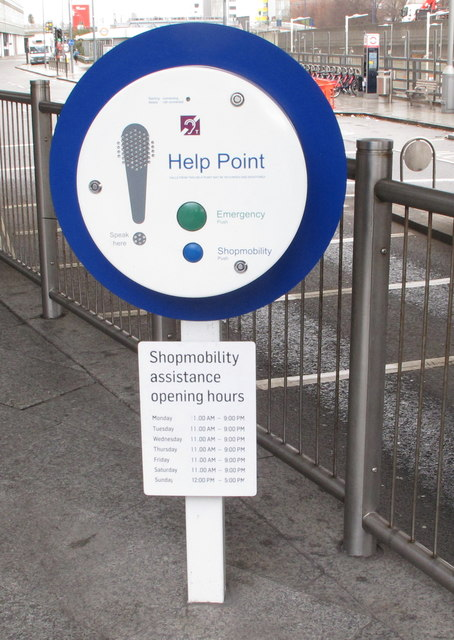 Shopmobility Help Point at Westfield London