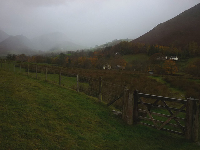 Gate above Ghyll Bank