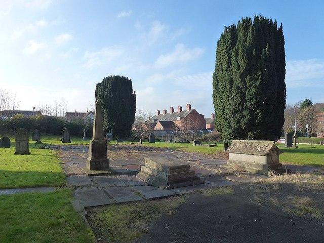 St David's churchyard, Newtown