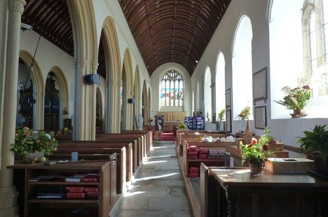 South aisle,  All Saints church, Malborough, Devon