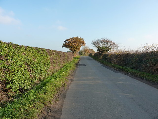 The road towards the A442