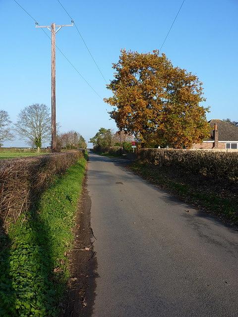 On a lane just north of Ellerdine Heath