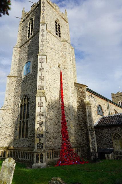 Weeping Poppies, St Michael's Church, Reepham
