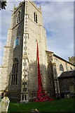 TG1022 : Weeping Poppies, St Michael's Church, Reepham by Ian S