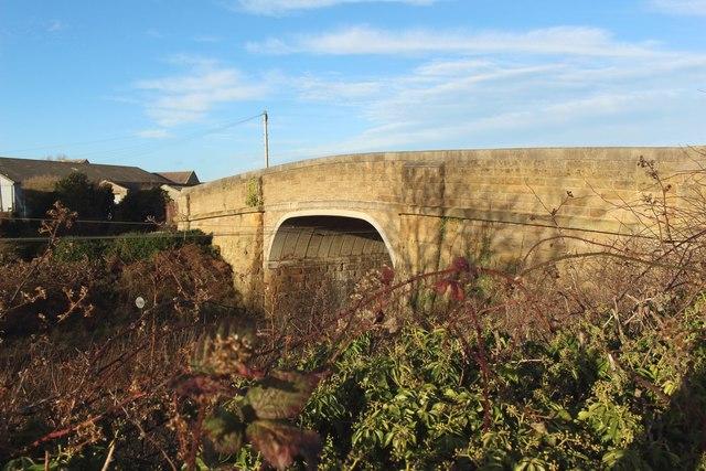 Bridge crossing the East Coast Mainline at Buston Barns