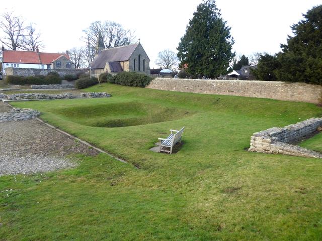 Remains of the Roman fort at Piercebridge