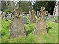 SO0158 : Two older headstones by Bill Nicholls