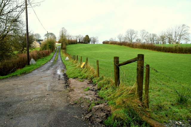 Muddy along Dreenan Road