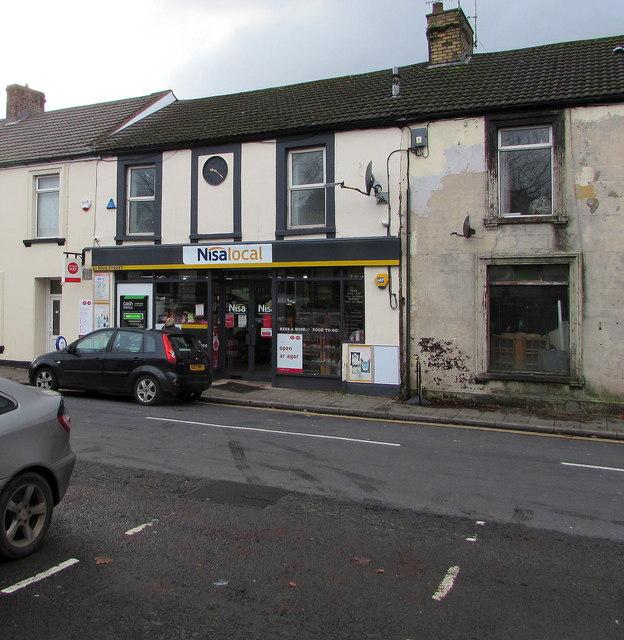 Nisa Local and post office, High Street, Rhymney